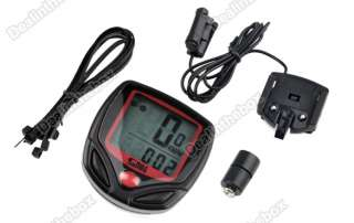 LCD Bike Bicycle Cycle Computer Odometer Speedometer + cable