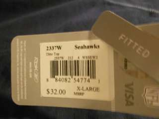 NEW Seattle SEAHAWKS Womens XL XLARGE Split Neck Screen Printed Shirt