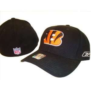 Bengals Black Reebok NFL Flex Fit Baseball Cap Hat