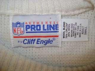 vintage CHICAGO BEARS WHITE STRIPE DITKA CLIFF ENGLE SWEATER S