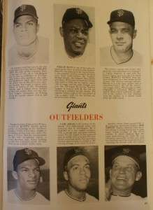 1962 New York Yankees San Francisco Giants World Series Program Mantle