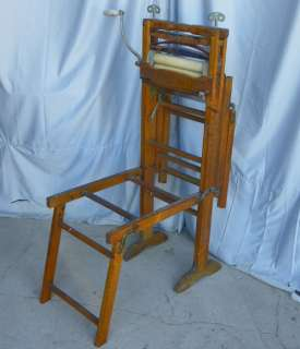 Antique Primitive Wringer and Wash Tub Folding Stand