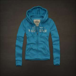 NWT HOLLISTER Abercrombie Womens BOOMER BEACH Fleece Hoodie Jacket S
