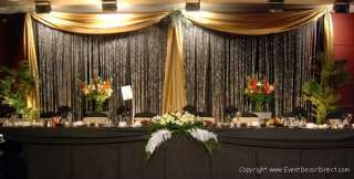 30ft Long Sheer Valance for Draping Wedding Backdrop, Party Drape