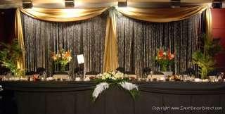 30ft Long Sheer Valance for Draping Wedding Backdrop, Party Drape