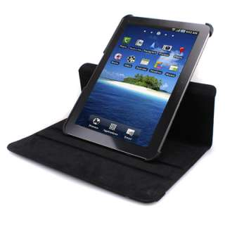 360 Degrees Rotating Leather Black Case Cover Stand for Samsung Galaxy