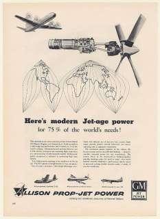 Allison Model 501 Prop Jet Engine C 130 Electra Convair 340 Print Ad