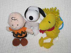 PEANUTS SNOOPY WOODSTOCK 4.5 MiNi PLuSH LoT