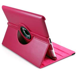 Peach Red 360 Rotating Swivel Magnetic Smart Leather Stand Cover Case