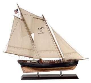Katy Of Norfolk Pilot Boat Wooden Ship Model Sailboat Authentic Models