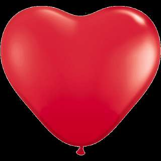 100 Heart Shape Red 6 inch Qualatex Balloons Latex In