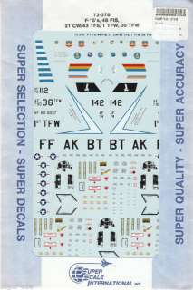 72 SuperScale Decals F 15A F 15B F 15C Eagles 72 378 |