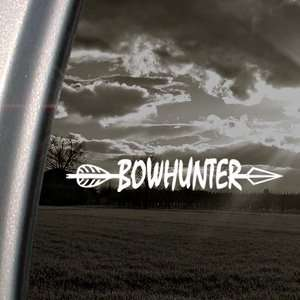 BowHunter Decal Bow Deer Hunter Hunting Car Sticker: Automotive