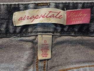 AEROPOSTALE Low Rise Hailey Skinny Flare Stretch Jeans sz 0 Short