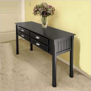 Winsome Timber Solid Wood /Sofa Black Console Table 021713204509