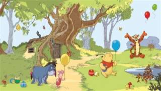 WINNIE THE POOH AND FRIENDS Wall Mural Wallpaper Decor 034878006017