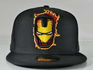 MARVEL COMIC NEW ERA IRON MAN LOGOCLIPSE BLACK 59FIFTY FITTED CAP