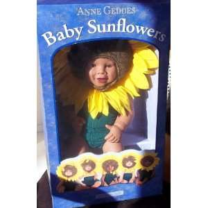 : Anne Geddes 15 African American Baby SunFlowers Doll: Toys & Games