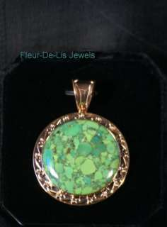 Jay King MINE FINDS Green Mojave Turquoise COPPER Pendant
