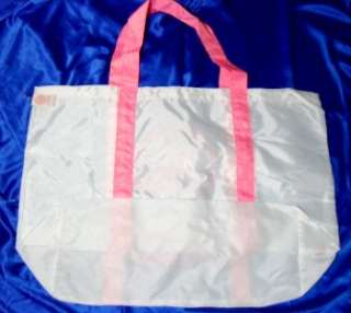 Victorias Secret White University of Pink 1986 tote bag