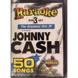 Johnny Cash 50 song pack   CHARTBUSTER KARAOKE CD+G In