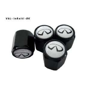 AGT Aluminum Black Valve Caps Tire Cap Stem for Infiniti Wheels (Pack