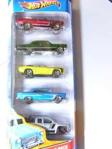 Hot Wheels 2011 5 pack Chevy Camaro, Impala, Silverado