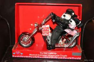 Valentine Motorcycle Dog Couple Animated Musical Born to be Wild NWT