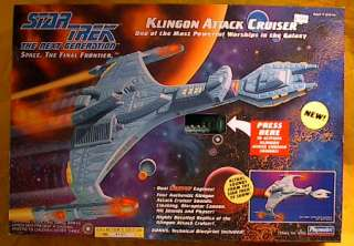 Star Trek KLINGON Attack Cruiser Playmates Ship MIB