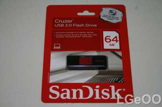 New SanDisk Cruzer 64GB USB Flash Drive SDCZ36 064G A11 619659069124