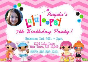 Printed Lalaloopsy Birthday Invitations/Thank You 5X7 or 4X6 Size