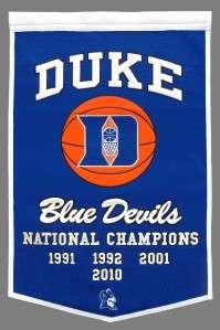 Duke Blue Devils Wool Dynasty Banner Pennant NCAA