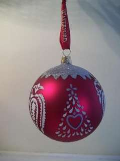 Waterford HOLIDAY HEIRLOOMS RED TREE GLASS Ball CHRISTMAS ORNAMENT MIB