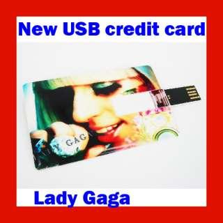4GB Lady Gaga Sexy Singer Credit Card USB Flash Drive