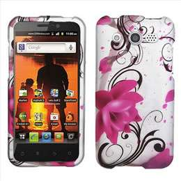 Pink Peace Flowers Hard Case Cover for Cricket Huawei Mercury M886