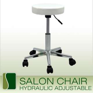 WHITE Hydraulic Stool Chair Facial Salon TATTOO Beauty Mobile Salon
