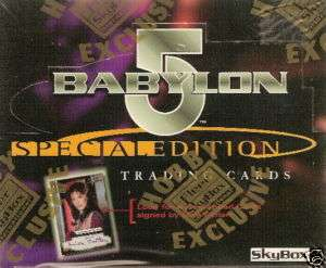 BABYLON 5 SPECIAL ED. TRADING CARDS FACTORY SEALED BOX
