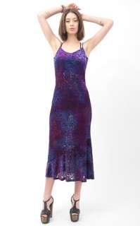 Vtg 90s Sheer Velvet Floral Burnout Draped Gypsy Boho Long Maxi Skirt