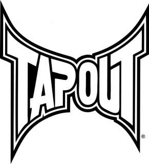 Tapout Tap Out MMA Logo Outline Vinyl Decal Sticker