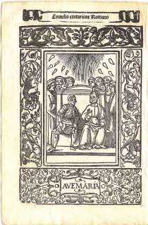 1521   CORNELIUS & ST. PETER   small full page woodcut