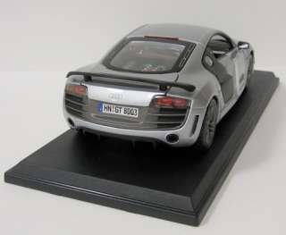 Audi R8 GT Diecast Model Car   Maisto   Silver   118 Scale   New in