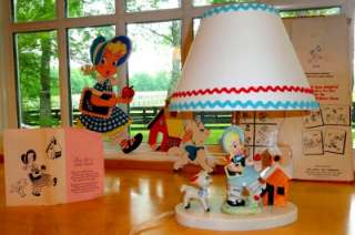 Vtg~DOLLY TOY Co~LAMP/Light~Wall Decor~PIN UPs~Kid~Girl