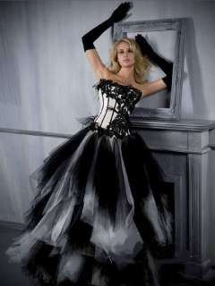 Brand New BLACK Corset Wedding Dress/Party Gown