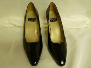 Nine West shoes black patent leather pumps 2.75 in 8 M