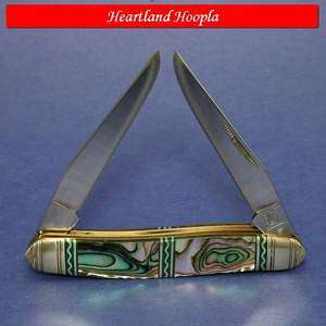 Rough Rider Silver Select Muskrat Knife Abalone Handles