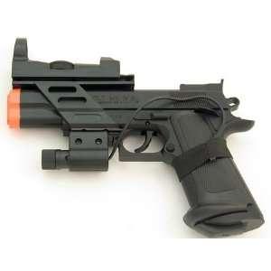Spring Colt 1911 Style Pistol FPS 200, Red Dot, Laser Airsoft