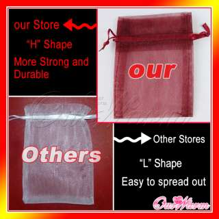 Organza Pouch 4x6 10x15cm Wedding Favor Gift Candy Bag Colors U Pick