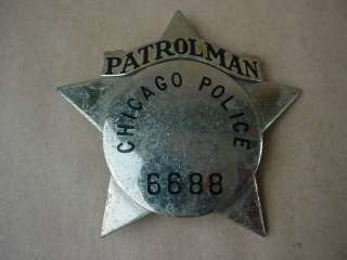 20s AntiqueObsolete Patrolman Chicago Police Star Badge Rare