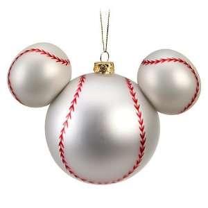 Disney World Mickey Mouse Icon Head Baseball Ornament Christmas