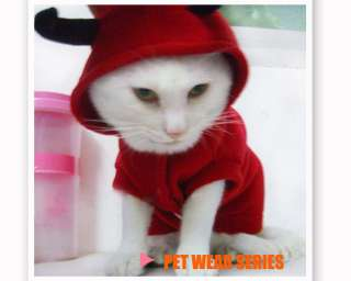 Cute Pet Dog Cat Fall Winter Fancy Devil Clothe Dress Costume XS S M L